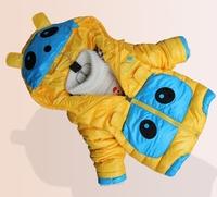 hot sale 2014 New arrival winter coats Panda shape cotton made children winter outwear down jacket for Down & Parkas