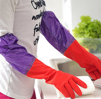 Wholesale Kitchen Wash Dishes Cleaning Waterproof Long Sleeves Rubber Latex Gloves Tool