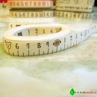 1.5 cm (Width), 20 meters / lot, meter measure coffee ,100% Cotton Printed Ribbons, Cotton sewing labels, ZAKKA Webbing,