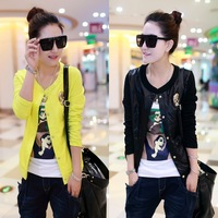 2014 Hitz Dress Small Coat Korean Leisure Self-cultivation Single Breasted Sweater Long Sleeved Jacket