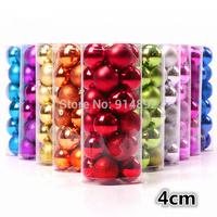 free shipping  24pcs/ lot  4cm Christmas tree decorative ball / holiday decoration ball  DIY