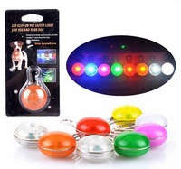 Flasher Blinker Flashing LED Light Pet Dog Cat Safety Collar Tag keychain mixed colors