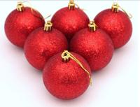 free shipping  6pcs/ lot  6cm Christmas tree decorative ball / holiday decoration ball  DIY
