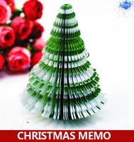 Merry Christmas tree memo pads , novelty Christmas tree note pads / note paper as Christmas best gift