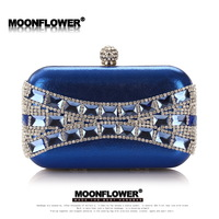 2014 women fashion brand shining diamond evening bag clutches Chain shoulder messenger evening party bag  gift