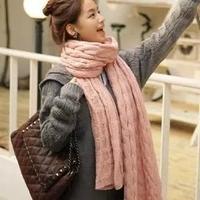New 2014 women Winter scarf knit wool fashion warmer scarves 200cm FREE SHIPPING 5506