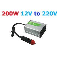 12V DC to AC 220V Adapter Car Auto Power Inverter Converter Adaptor 200W USB Port