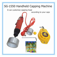 electric protable mini handheld screw capping machine,capping machine ,convenient cap tighten tool for water,drink bottle capper
