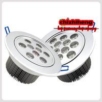Free shipping AC100-240V 12W LED ceiling lamp warm white