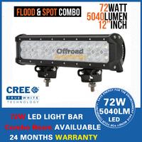 "12"" 72W 5700LM Cree Led Work Light Bar Lamp Car Truck Boat ATV Bright 24X3W LED Offroad Working Light FREE FAST SHIP"