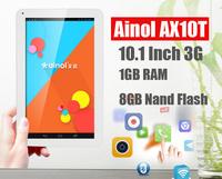 ainol ax10t  Numy 10.1 Inch 3G Phone Call Tablet PC GPS MTK8312 1.3GHz 1GB/8GB Android 4.2 Dual Camera GPS WCDMA