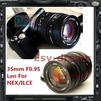 Black New Mitakon ZHONGYI 35mm F0.95 Manual Len For Sony A5100 A3000 A6000 NEX6 NEX7 NEX5R NEX5N NEX5 NEX3 NEXC3 Camera PA275