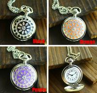 Hot selling enamel kaleidoscope trumpet  pocket watch vintage pocket watch wholesale
