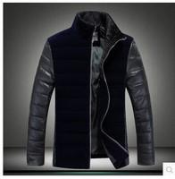 2014 New Brand Winter Men's Wool Jacket Casual Coat For Men Mens Thicken Jackets Men Overcoat Black/Gray Plus Size:M-XXXL,jACJET