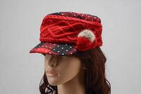 New Fashion Winter Women wool fedoras caps design knit warm vintage woolen hat ladies beautiful hat brand cap cheap sale