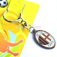 Wholesale 11 teams can choose ac milan souvenirs cheerleading gifts Football team Color rainbow crafts soccer flag souvenir