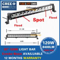 "25"" Cree 120W Led Work Light Bar Offroad Driving Lamp SUV ATV 4x4 Boat Bus Lamp IP68 Combo Beam Light Bar"