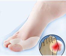 kostenloser versand 1 Paar gel ballen zehe-separator, erleichtert Fußschmerzen Fuß Hallux valgus wache kissen, zehenspreizer Fuß pflege werkzeug(China (Mainland))