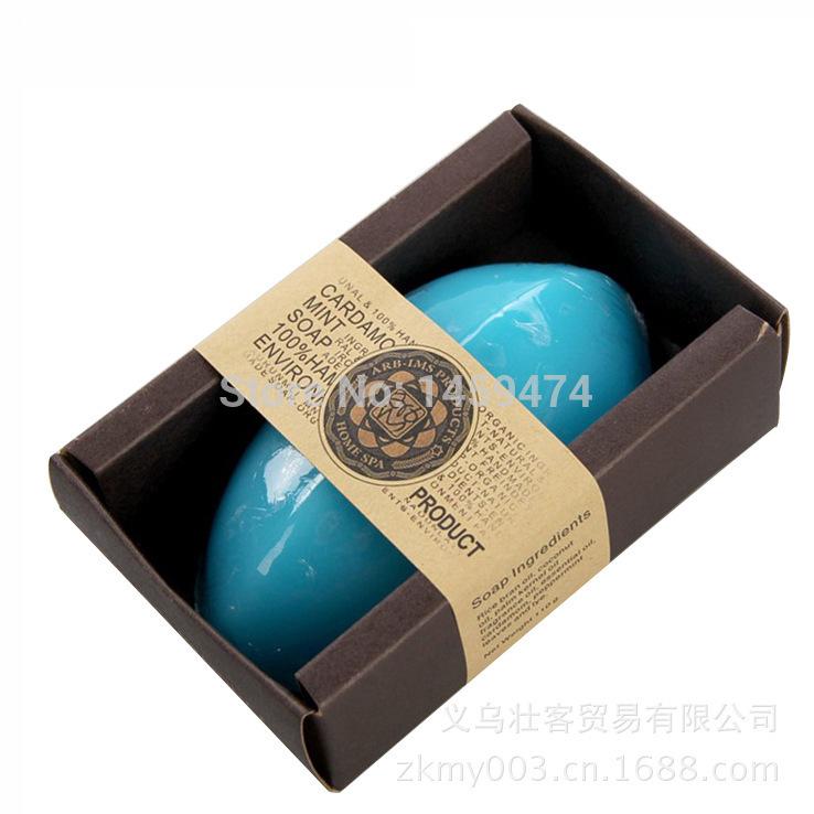 2014 hot Natural plant handmade soap.Thailand import oil soaps,Fresh mint deep cleanse skin handmade soap 100g.(China (Mainland))