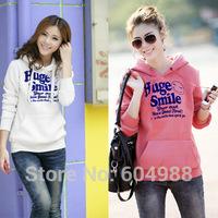 Women's Hooded Sweatshirts Women Outwear Letters Hoodies Women Ladies fashion cartoon Coat Winter clothes