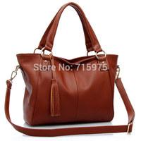 Hot Sales Women Handbag Genuine Leather Tassel Women Big Bolsa Franja shoulder Bags free of charge Value$4.99 Gift