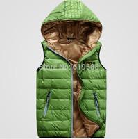 Free shipping Men's down vest Male warm down jacket vest Man winter waistcoat three Colors Size M-XXL