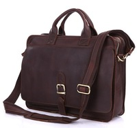 Factory Directly 100% Genuine Leather Crazy Horse Leather Men's Briefcases Handbag Bag Laptop bag Hot Sell #6062Q