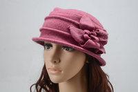 Designer women top quality warmer Wool Fedoras Caps Dress Crochet Hat for ladies Fashion Women Autumn and Winter wool flower cap