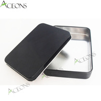Black Coating Packaging for Candy Sweets and Candy Food Gift Package for Confection Empty Mint Tins Bonbonniere Can 120*89*23 MM