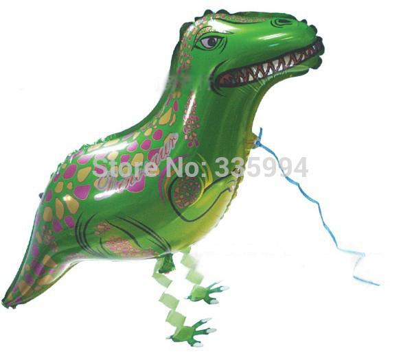 Free shipping (10 pieces) Walking pet balloon modeling balloon dinosaur aluminum foil balloons wholesale children's toys(China (Mainland))