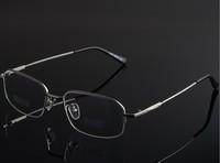 New spectacle eyeglasses metal memory optical Half frames eyewear for men women Myopia glasses oculos de sol 8061
