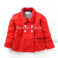 new 2014 Spring autumn kids jackets baby clothing child double-breasted cardigan jacket fashion single layer baby girls coat