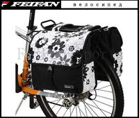 2014 ROSWHEEL 28L Cycling Mountain Road Bike/Bicycle Bag Flower Double Side Rear Rack Tail Seat Bag Pannier bag Seat Bags