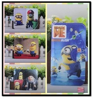 Wholesale,lovely Funny cartoon Hot Despicable me leather PU flip case cover for Samsung Galaxy Trend Plus S7580