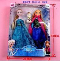 With Original Box Frozen Doll 2pcs Set High Quality Elsa and Anna Frozen Princess Classic Toys