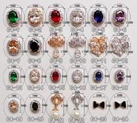 hot ! 10pcs 3D Bows Nail Art Zircon Rhinestone Nail Art Decorations DIY Decorated Nails Tips Acrylic Nails Free Shipping