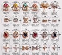 hot ! 10pcs 3d Alloy Rhinestones Cross logo Nail Art DIY Decoration Glitters Slices Free Shipping