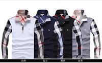 2014 explosion models free shipping brand fashion shirt shirt Slim Color 4 color fashion men's V-neck long-sleeved T-shirt