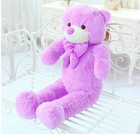New Wholesale  Lovely  lavender purple teddy bear plush toy doll  gift free shipping 60cm