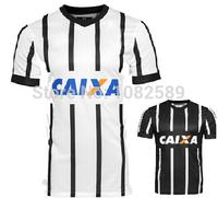 A+++ 14 15 100% Thailand Camisa Corinthian Shirt Player Version Home Away White Black Futbol Jerseys