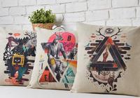Creative Deer The deer heads Pillow Cushion cover Linen Pillow cover pillowcase Car home decorate sofa cushions
