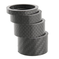 """Glossy Matte Carbon Fibre Handle Bar Headset Spacers Washers Kit Set 1 1/8"""" 5mm 10mm 15mm 20mm"""