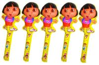 60pcs\lot  Cartoon DORA Blow Bar Foil Balloons Refueling Bar Activities Match Balloon Party Supplies Decorations 24x75cm