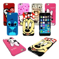 For iphone 6 6G For iphone6 4.7 Case Cape Stitch Alien Minnie Mickey Mario Kitty One Piece Cartoon High Quality Back Cover