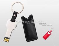 Waterproof Metal Pendrive USB Flash Drive Pen Drive 64GB 32GB  USB 2.0 Flash drives Memory Stick With key Ring holster