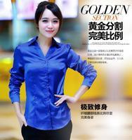 D50 European Grand Prix 2014 Autumn New European And American Women's Long-Sleeved Shirt Printing Lapel Irregular 2035