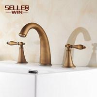 Antique bathroom faucet double handle mixer tap basin faucet