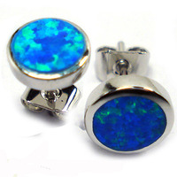 Miumum order Free Shipping USD15.0 925 Opal earring Stud Earring Firpal Jewelry DR080594E-7.0mm e oFree Shipping