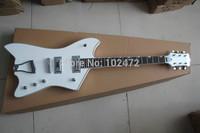 Unique Classic  F-hole Jazz Large rocker White electric guitar