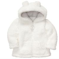 2014  autumn Coral velvet baby jacket/coat long-sleeved hooded infant boy girl carter thick tops